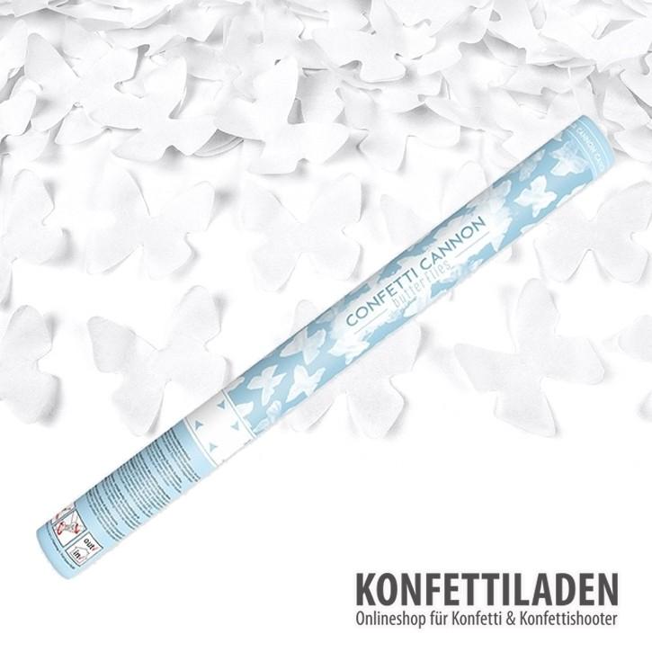 60cm Hand Konfetti Shooter - Schmetterlinge - Weiss