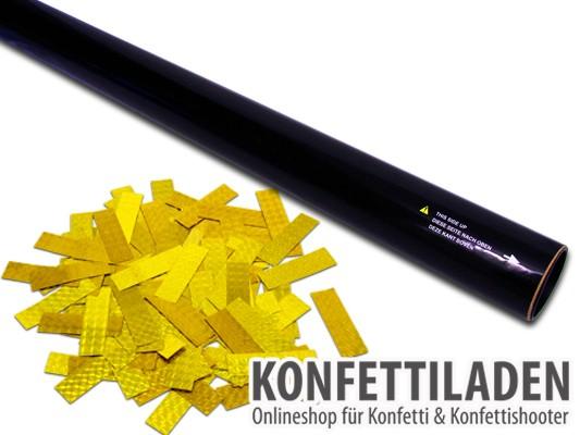 80cm Hand Konfetti Shooter -PRO- Laser Hologramm Konfetti - Gold