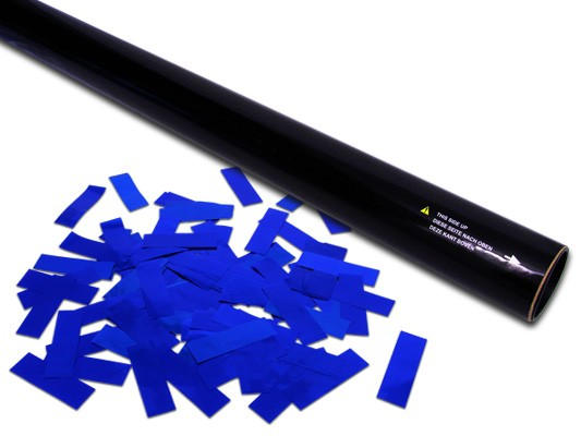 80cm Hand Konfetti Shooter - PRO - Metallic Konfetti - Blau