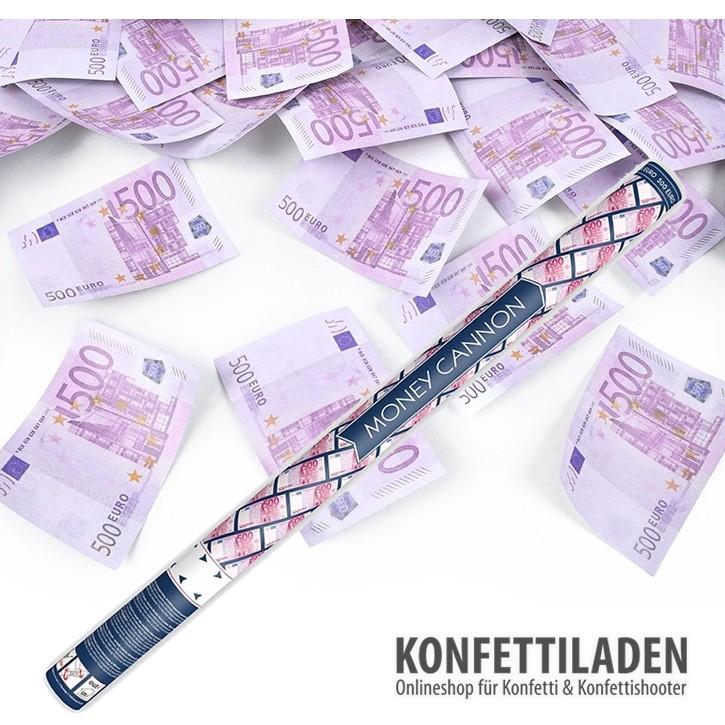 80cm Hand Konfetti Shooter - 500 Euro Spielgeld-Scheine