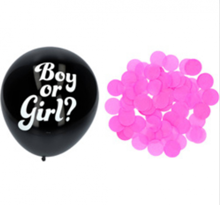 Boy or Girl? 3 x Gender Luftballons - Rosa