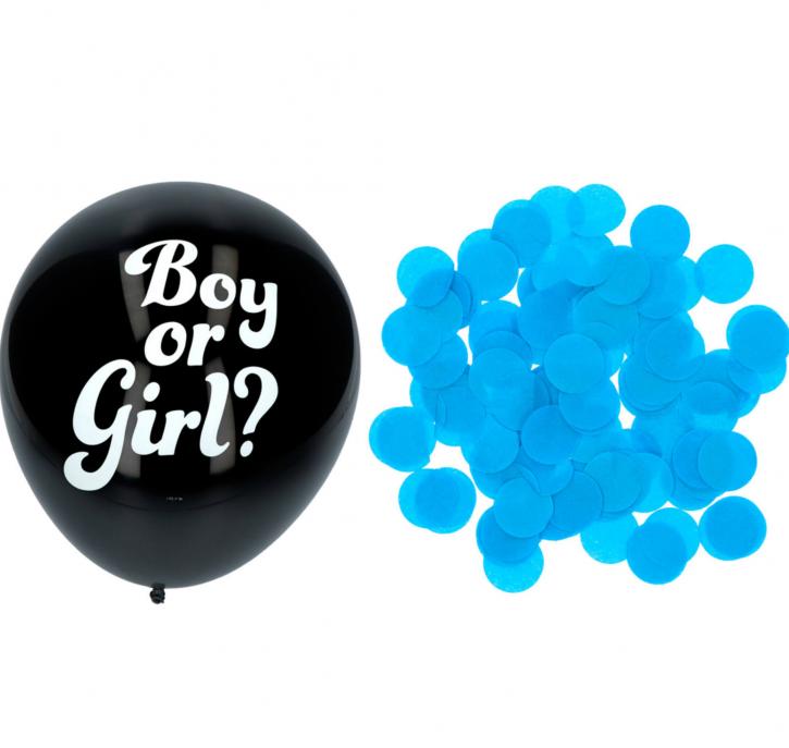 Boy or Girl ? 3 x Gender Lufballons - Hellblau