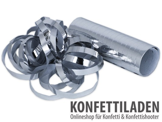 Luftschlangen - Silber Metallic