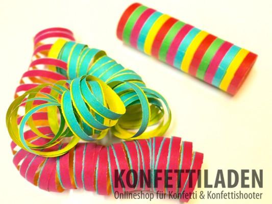 Luftschlangen - Multicolor - Streifen - schwer entflammbar
