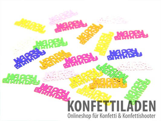Tischkonfetti - HAPPY BIRTHDAY - Multicolor Mix