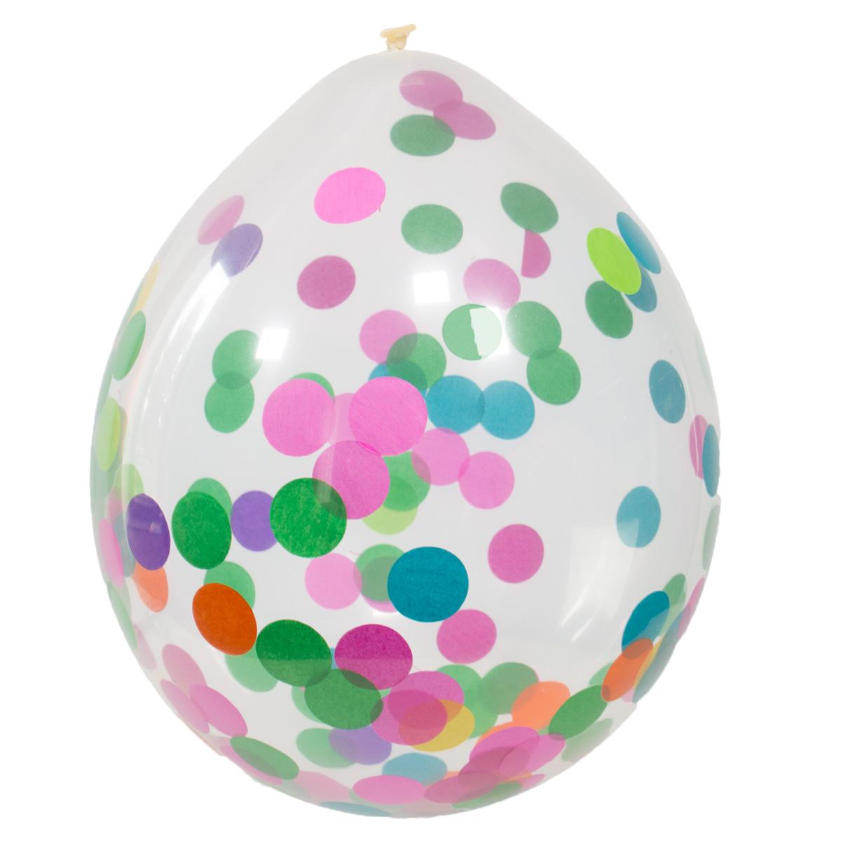 Konfetti Luftballons - Multicolor - 4er Set