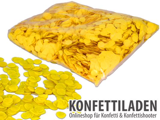 15mm SFP Konfetti Kreise  - Gelb