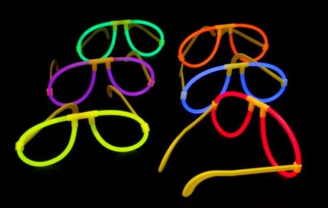 6 Piloten Brillen Knicklichter