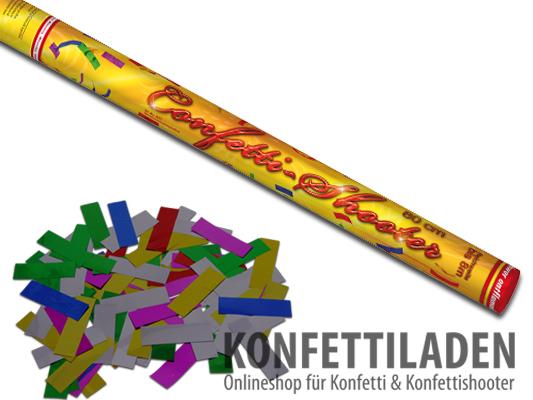 80cm Nico Hand Konfetti Shooter - Mutlicolor Metallic Konfetti