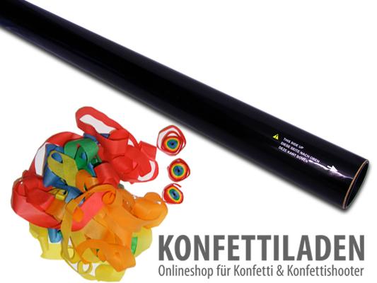 80cm Hand Konfetti Shooter -PRO- Rainbow paper Streamer