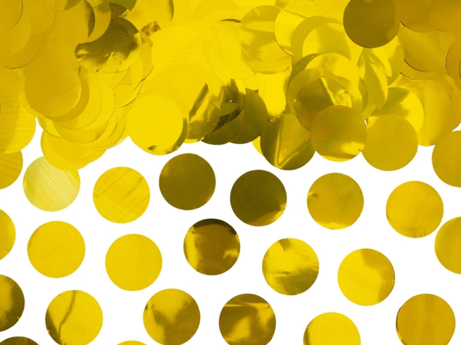 Konfetti Kreise - Gold Metallic