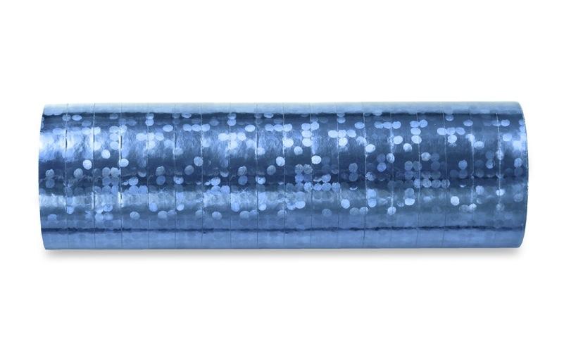 Hologramm Luftschlangen - Light Blue