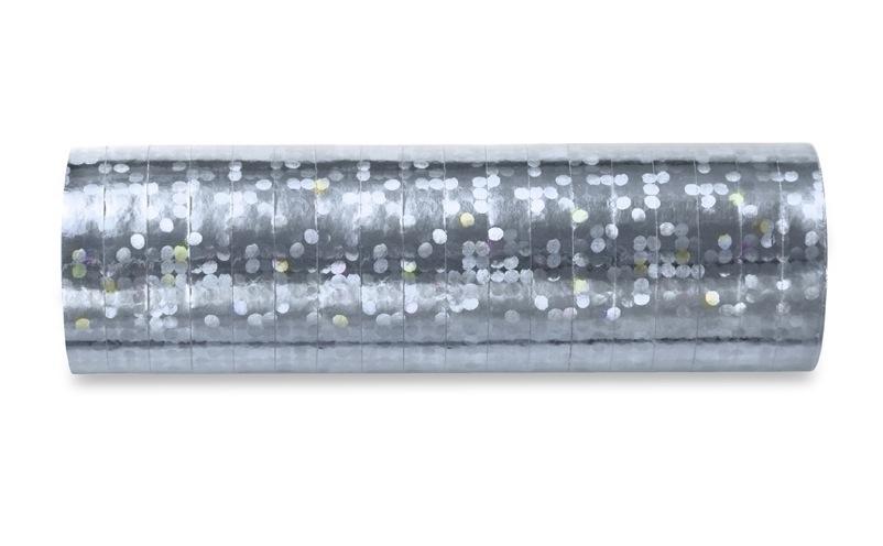 Hologramm Luftschlangen - Silber