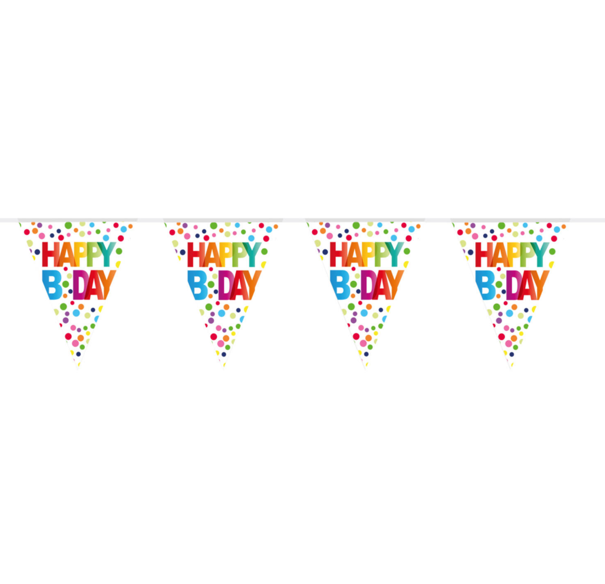 Wimpelkette | Happy Birthday | Rainbow Dots