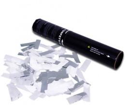 28cm Konfetti Shooter - Konfetti Mix - Weiss/Silber