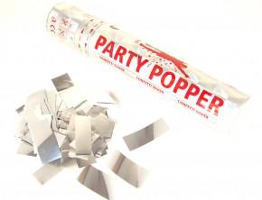 Party Popper - Silber metallic Konfetti