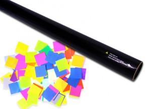 80cm Konfetti Shooter - Multicolor Squares 1,7x1,5cm