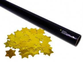 80cm Konfetti Shooter - Metallic Sterne - Gold