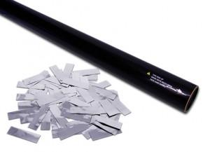 80cm Konfetti Shooter - Metallic Konfetti - Silber
