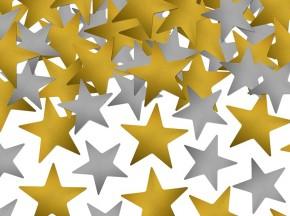 Streukonfetti Mix - Sterne - Gold & Silber - Groß