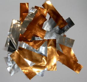 Sonderposten Metallic Konfetti Mix Silber/Kupfer Orange