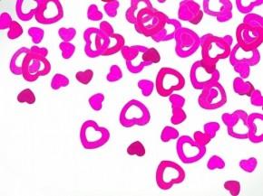 Streukonfetti - Metallic Herzen - Pink