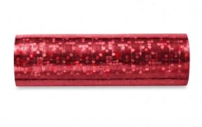 Hologramm Luftschlangen - Rot