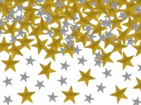 Streukonfetti Mix - Gold + Silber Metallic Sterne
